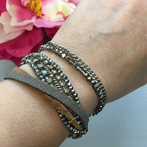 LOFT multi strand cuff bracelet w/ magnetic clasp
